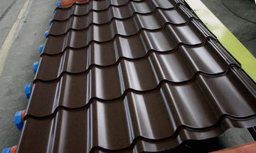 Металлочерепица Супермонтеррей цвет шоколад RAL 8017 толщ. 0,5 мм
