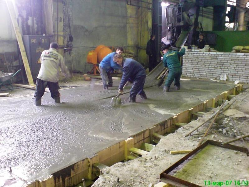 заливка фундамента под станок